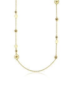 Raised Golden Logo Rosary Necklace - Tory Burch