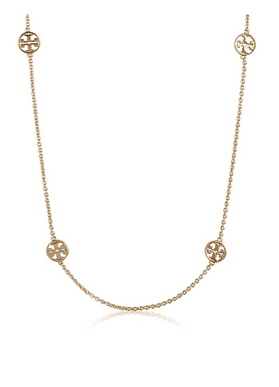 Delicate Logo Rosary Necklace - Tory Burch