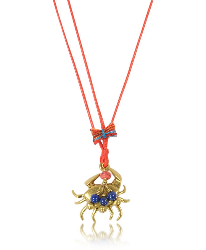 Crab Charm Thread Necklace - Tory Burch