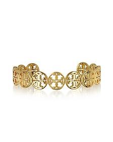 Goldtone Logo Cuff Bracelet - Tory Burch