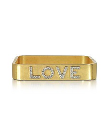 Love Message Vintage Goldtone Cuff Bracelet - Tory Burch