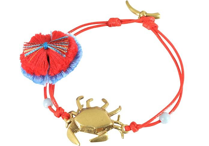Crab Charm Thread Bracelet - Tory Burch