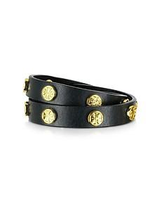 Double Wrap Stud Logo Bracelet - Tory Burch