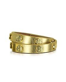 Skinny - Bracelet Double en Cuir avec Logo - Tory Burch