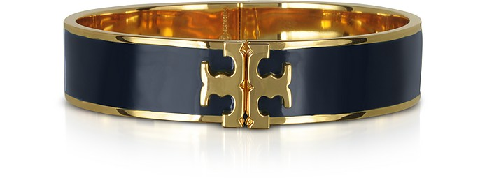 Enameled Raised-logo Hinged Bracelet - Tory Burch