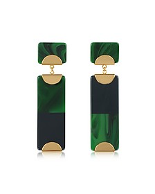 Resin Color-Block Drop Earrings w/Goldtone Metal - Tory Burch