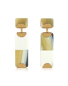 Resin Color Block Drop Earrings - Tory Burch