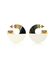 Resin Color Block Hoop Earrings - Tory Burch
