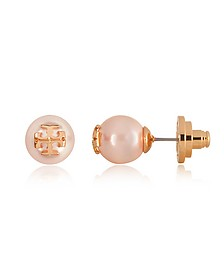 Crystal Pearl Stud Earrings - Tory Burch