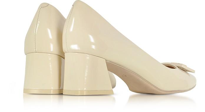 6b99367f0df1c Gigi Dulce de Leche Soft Patent Leather Mid-Heel Pump - Tory Burch. Sold Out