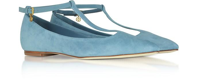 d08e6f817ce Blue Yonder Suede Ashton T-Strap Flat Ballerina - Tory Burch.  161.00   322.00 Actual transaction amount