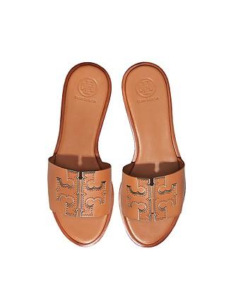 77089c76c Tan Calf Leather Ines Slides - Tory Burch