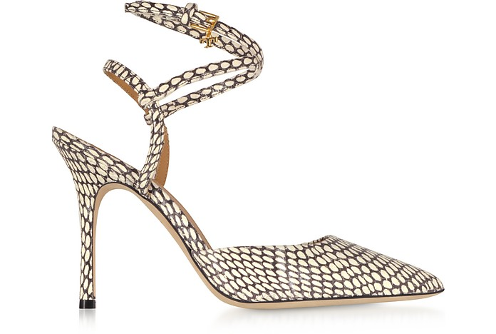 Penelope 100mm Sandali in Pelle King Cobra  - Tory Burch