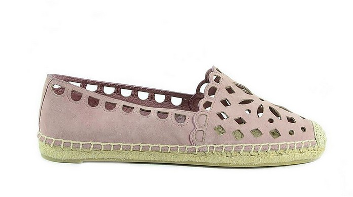 Pink Cut Out Women's Espadrille Shoes - Tory Burch