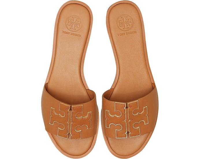 Tan Ines Slide Sandals - Tory Burch