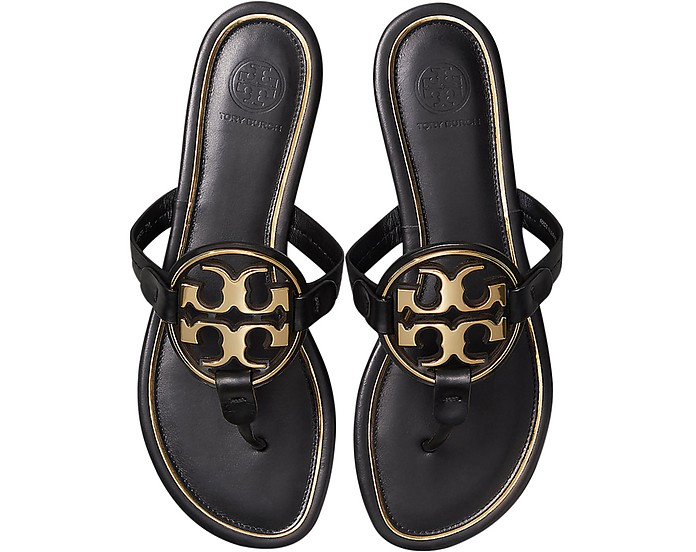 Perfect Black Metal Miller Sandals - Tory Burch