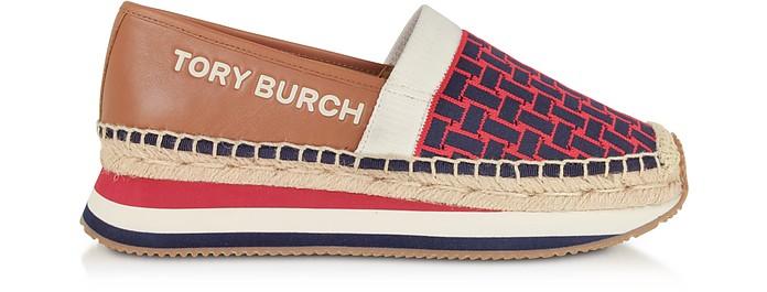 Sneakers Espadrillas in Pelle e Tessuto Stretch - Tory Burch