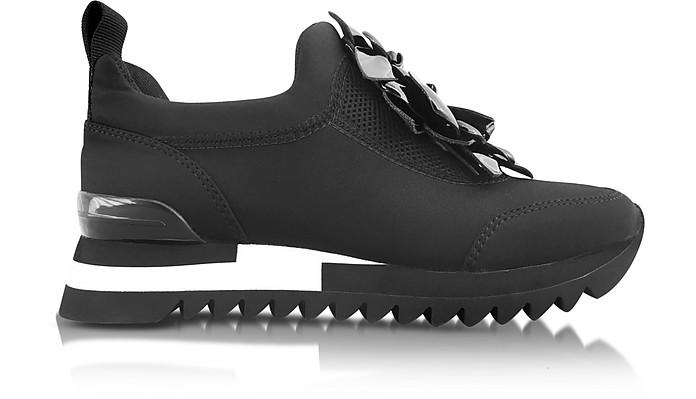 Blossom Black Neoprene Sneaker - Tory Burch