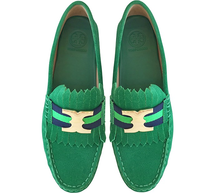 f2403b416af58 Gemini Link Emerald Stone Suede Driver Shoes - Tory Burch.  140.00  280.00  Actual transaction amount