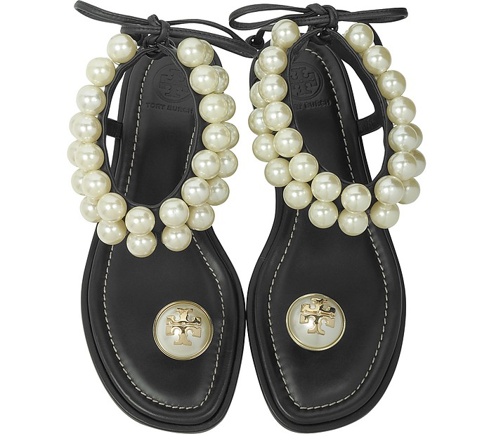 94f1735d950 Melody Black Leather Ankle Strap Sandals - Tory Burch.  165.00  330.00  Actual transaction amount