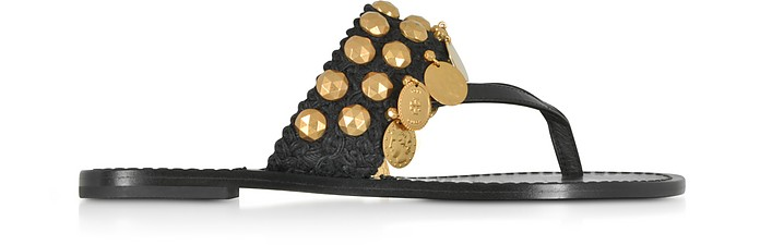 Patos Coin Thong Sandals - Tory Burch