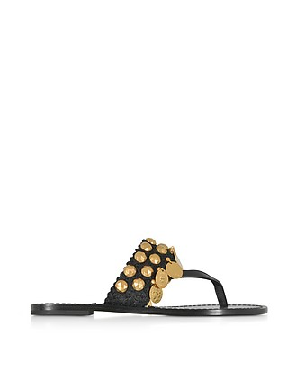 93ec42e155c271 Patos Coin Thong Sandals - Tory Burch