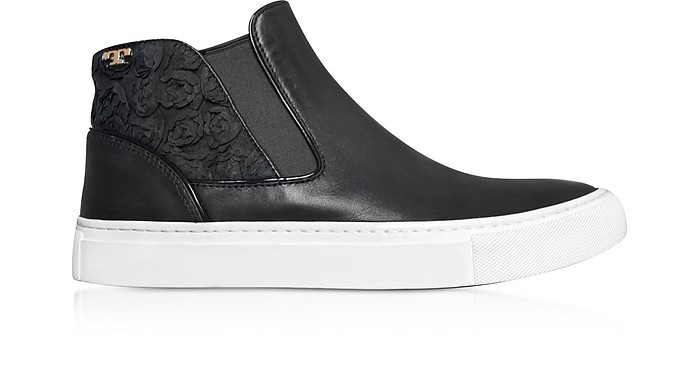Rosette High-top Nappa Leather Sneaker - Tory Burch