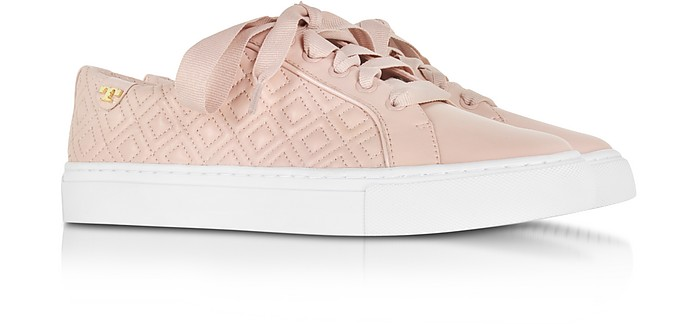 db3cea226b70 Marion Sachet Pink Quilted Lace-up Sneaker - Tory Burch.  117.00  195.00  Actual transaction amount