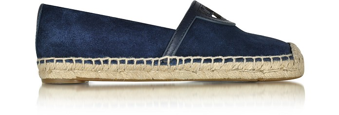 ccdb927eb05 Tory Burch Sidney Royal Navy Suede and Leather Flat Espadrille 5 US ...