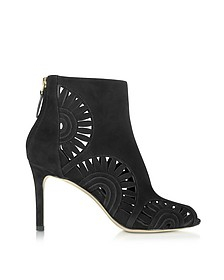 Leyla Bootie in Suede Nero - Tory Burch