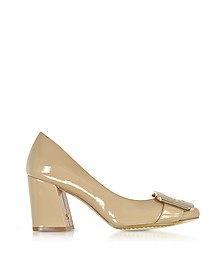 Maria Tory Beige Patent Leather Heel Pumps - Tory Burch / トリー バーチ