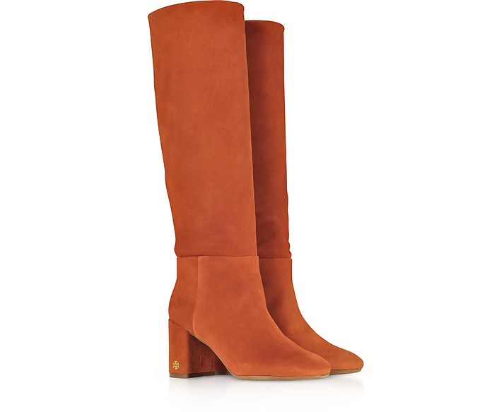 3c62ab18317 Tory Burch Brooke Desert Suede Spice Slouchy Boots 8 US at FORZIERI