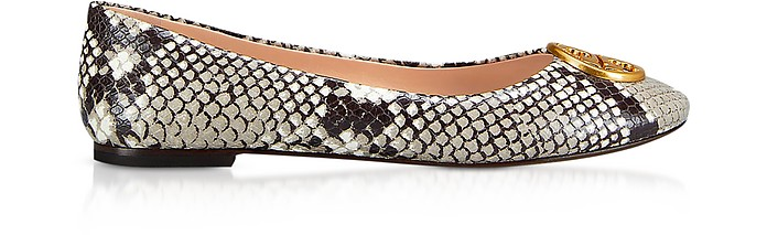 cdc746a7eef4 Warm Roccia Snake Printed Leather Chelsea Ballet Flats - Tory Burch.   259.00 Actual transaction amount