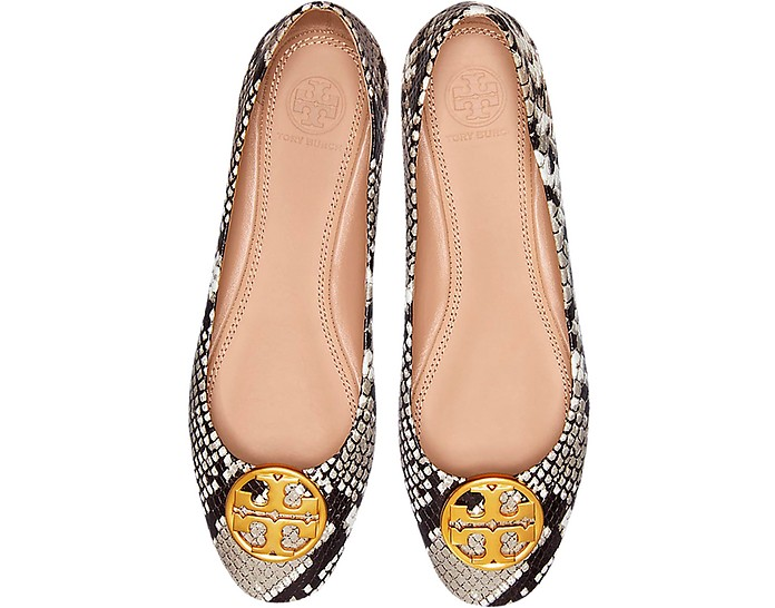 Warm Roccia Snake Printed Leather Chelsea Ballet Flats - Tory Burch
