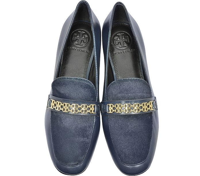 29de51ecc69a Gemini Link Royal Navy Leather and Haircalf Loafer - Tory Burch.  130.00   325.00 Actual transaction amount