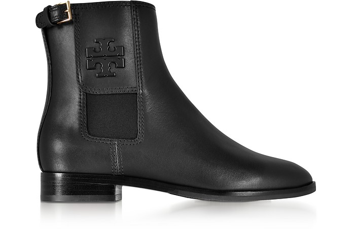 Wyatt Black Leather Bootie - Tory Burch