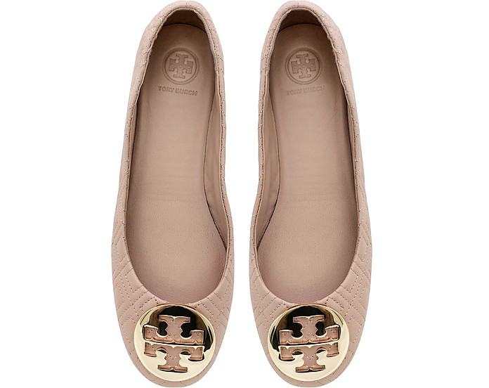 Goan Sand Quilted Nappa Leather Minnie Ballerinas - Tory Burch