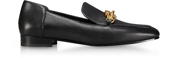 Perfect Black Leather Jessa Loafers - Tory Burch / トリー バーチ
