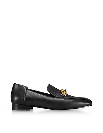 c0135813d Perfect Black Leather Jessa Loafers - Tory Burch