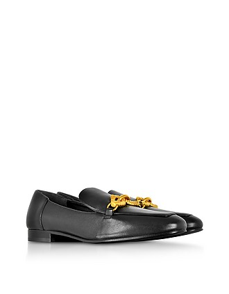 e4dcd92ba Tory Burch Perfect Black Leather Jessa Loafers 9 US at FORZIERI