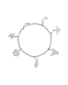 Sea - 1.18 ctw White Gold Diamond Charm Bracelet