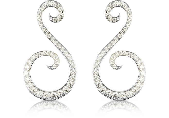 5.92 ctw White Gold Diamond Pegasus Earrings - Colucci Diamonds