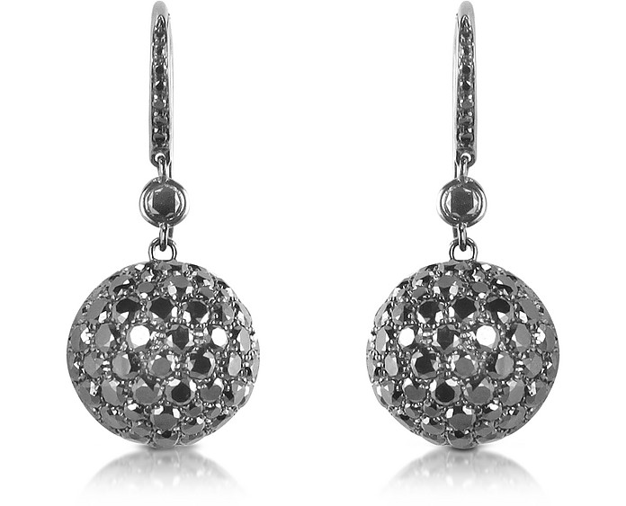 22.58 ctw Black Diamond Drop Earrings - Colucci Diamonds
