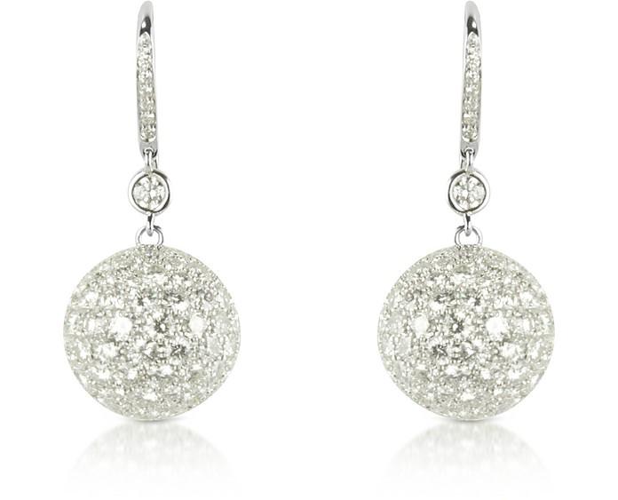 16.67 ctw White Gold Diamond Drop Earrings - Colucci Diamonds
