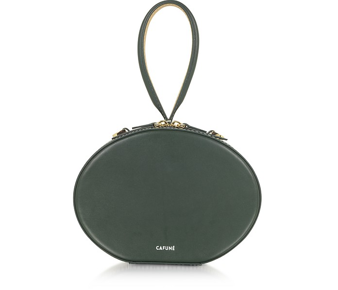 Forest Green Leather Egg Bag - Cafuné