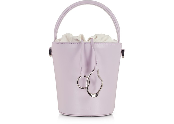 Lilac Leather Mini Bucket Bag - Cafuné / カフネ