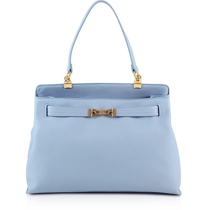 Light Blue Top Handle Tote - Liu Jo