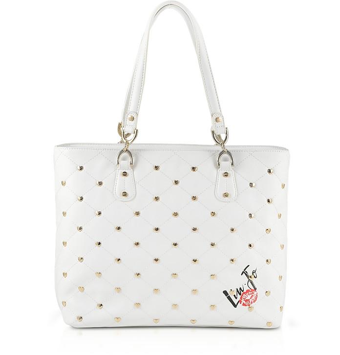 Withe Studded Tote Bag - Liu Jo