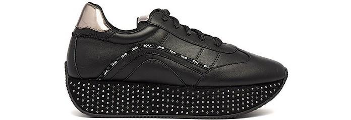 Black Studded Flatform Sneakers - Liu Jo / リュージョー