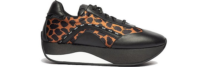 Hilary 02 Animal Print Wedge Sneakers - Liu Jo / リュージョー
